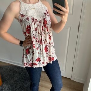 NWOT Anthropologie One September Floral Tank Top